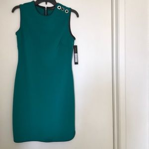 Blue green sleeveless dress